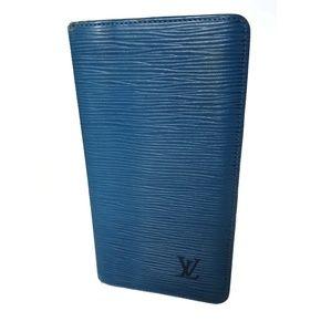 Vintage Epi Louis Vuitton Blue bifold wallet